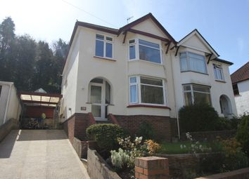 Thumbnail 3 bed semi-detached house for sale in Occombe Valley Road, Preston, Paignton, Devon