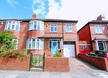 Thumbnail 5 bed semi-detached house for sale in Grosvenor Road, Jesmond, Newcastle Upon Tyne