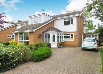 Thumbnail 4 bedroom detached house for sale in Melford Close, Longthorpe, Peterborough