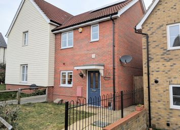 Thumbnail 2 bed semi-detached house for sale in Le Noke Avenue, Noak Hill, Romford