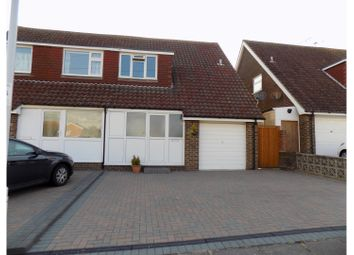 Thumbnail 3 bed semi-detached house for sale in Adur Avenue, Worthing