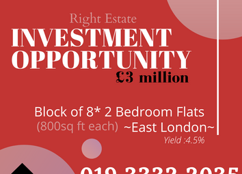 Thumbnail Block of flats for sale in East London, East London