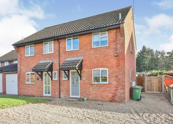 Thumbnail 3 bed semi-detached house for sale in Bracken Close, Fakenham