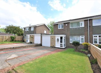 Thumbnail 3 bed semi-detached house for sale in The Crest, Dinnington, Newcastle Upon Tyne
