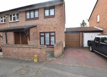 Thumbnail 3 bed semi-detached house for sale in Fiennes Close, Chadwell Heath, Romford