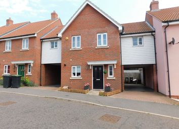Thumbnail 3 bed link-detached house for sale in Buzzard Rise, Stowmarket