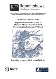 Thumbnail Land for sale in Pontefract Road, Purston Jaglin, Pontefract