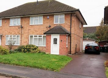 Thumbnail 3 bed semi-detached house to rent in Burns Road, Crawley, West Sussex