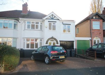 Thumbnail 4 bed semi-detached house to rent in Weymoor Road, Harborne