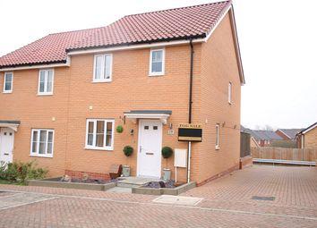 Thumbnail 3 bed semi-detached house for sale in Popular Road, Great Blakenham, Ipswich, Suffolk