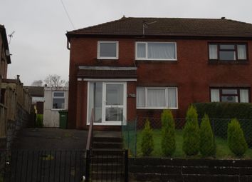 Thumbnail 3 bed semi-detached house to rent in Highfield Crescent, Aberbargoed, Bargoed