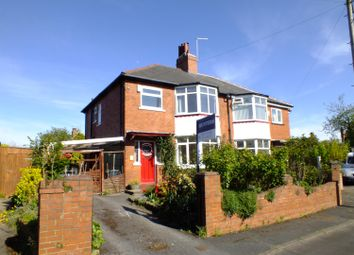 Thumbnail 3 bed semi-detached house for sale in Lidgett Park Gardens, Roundhay, Leeds