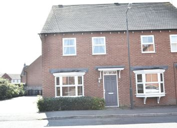 Thumbnail 3 bedroom semi-detached house to rent in Greenwich Avenue, Church Gresley, Swadlincote