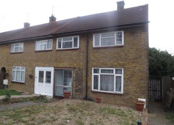 Thumbnail 3 bed terraced house to rent in Hilldene Avenue, Romford