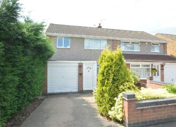 Thumbnail 3 bed semi-detached house for sale in The Bridle, Glen Parva, Leicester