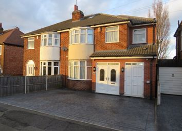 Thumbnail 5 bed semi-detached house for sale in Cardinals Walk, Leicester