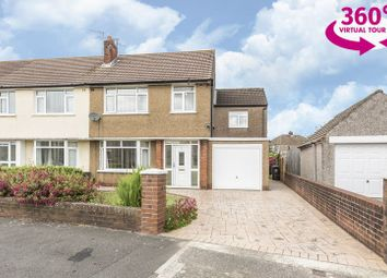 Thumbnail 4 bedroom semi-detached house for sale in Exford Crescent, Llanrumney, Cardiff