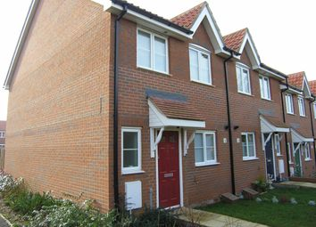 Thumbnail 3 bed end terrace house to rent in Mallard End, Downham Market