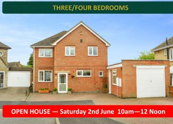 Thumbnail 3 bed detached house for sale in Silverton Road, Oadby, Leicester