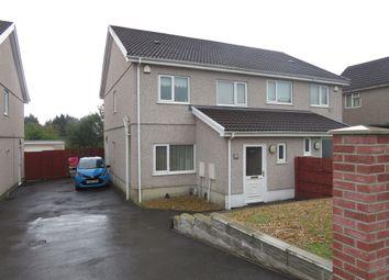Thumbnail 3 bed semi-detached house for sale in Heol Tir Du, Cwmrhydyceirw, Swansea
