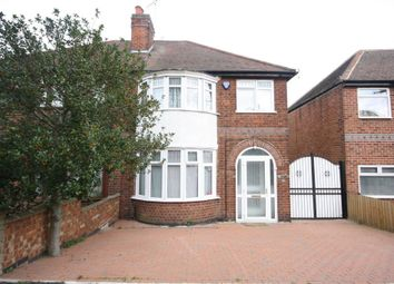 Thumbnail 3 bed semi-detached house to rent in Oakthorpe Avenue, Western Park, Leicester