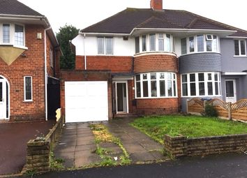 Thumbnail 3 bed semi-detached house to rent in Rowlands Road, Birmingham
