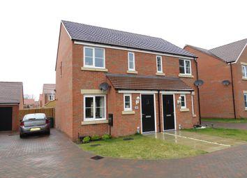 Thumbnail 2 bed semi-detached house for sale in Skipper Loke, Chalk Lane, Narborough