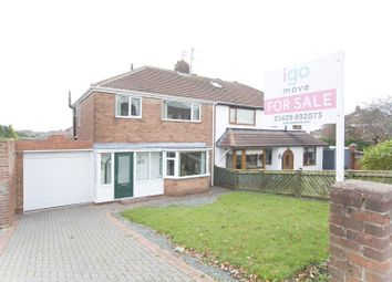 Thumbnail 3 bed semi-detached house for sale in Catcote Road, Hartlepool