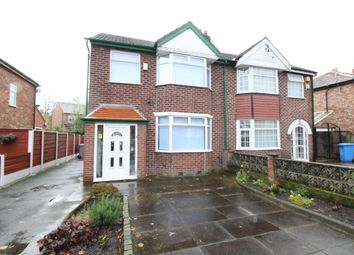 Thumbnail 3 bedroom semi-detached house to rent in Derbyshire Lane West, Stretford, Manchester