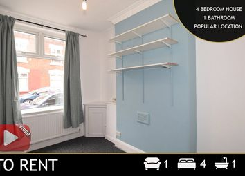 Thumbnail 4 bed terraced house to rent in Draper Street, Leicester