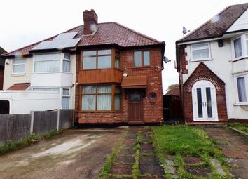 Thumbnail 3 bed semi-detached house for sale in Flaxley Road, Stechford, Birmingham