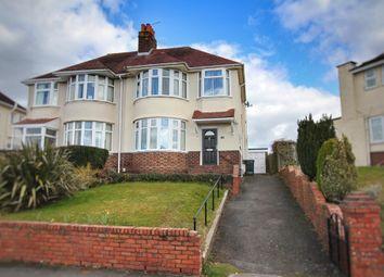 Thumbnail 3 bed semi-detached house for sale in Ridgeway Avenue, Newport