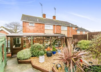 Thumbnail 3 bed semi-detached house for sale in Heron Avenue, Thrapston, Kettering