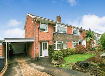 Thumbnail 3 bed semi-detached house for sale in Hollins Spring Avenue, Dronfield, Derbyshire