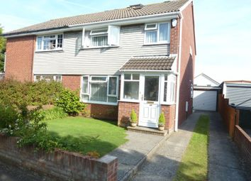 Thumbnail 4 bed semi-detached house for sale in Kenson Close, Rhoose, Barry