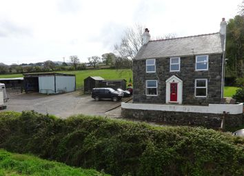 Thumbnail 4 bed equestrian property for sale in Groeslon, Caernarfon