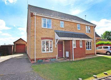 Thumbnail 3 bedroom semi-detached house for sale in Willow Close, Worlingham, Beccles