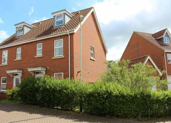 Thumbnail 3 bedroom semi-detached house for sale in Caddow Road, Three Score, Norwich