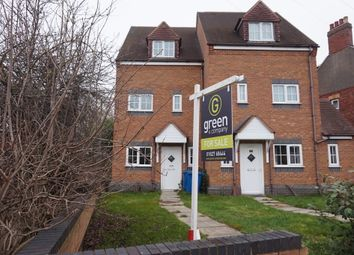Thumbnail 4 bed town house for sale in Glascote Road, Glascote, Tamworth