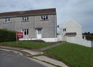 Thumbnail 2 bed semi-detached house to rent in Heol Yr Ysgol, Cefneithin, Llanelli