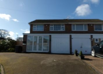 Thumbnail 3 bed semi-detached house to rent in Cornyx Lane, Solihull