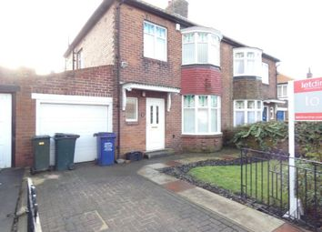 Thumbnail 3 bed semi-detached house to rent in Friarside Road, Fenham, Newcastle Upon Tyne