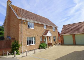 Thumbnail 4 bed detached house for sale in Rushton Drive, Carlton Colville, Lowestoft
