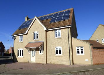 Thumbnail 4 bed detached house for sale in Churchfields Road, Long Stratton, Norwich