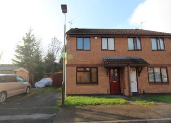 Thumbnail 3 bed semi-detached house to rent in Elwood Close, Leicester