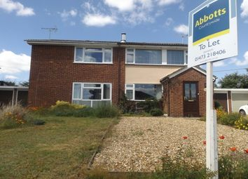 Thumbnail 3 bed semi-detached house to rent in Cottesford Close, Hadleigh, Ipswich