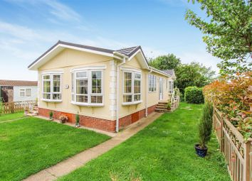 Thumbnail 2 bed mobile/park home for sale in Upton Park Main Street, Upton, Huntingdon