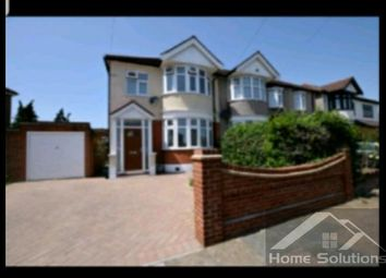 Thumbnail 4 bed semi-detached house to rent in Hathaway Gardens, Chadwell Heath, Romford