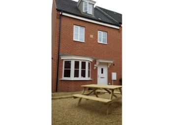 Thumbnail 4 bed end terrace house to rent in Venus Way, Peterborough