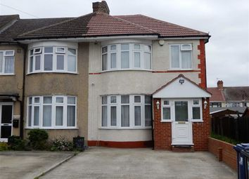 Thumbnail 3 bed end terrace house for sale in Rose Gardens, Southall, Middlesex